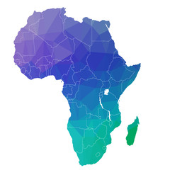 Africa in the color triangle. Raster 4