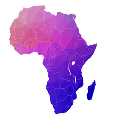 Africa in the color triangle. Raster 1