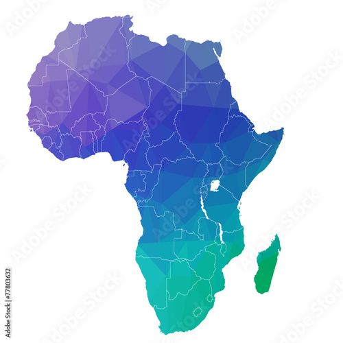 Africa in the color triangle. Raster 4 - 77803632