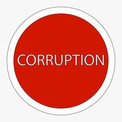 Sign ban corruption. Raster