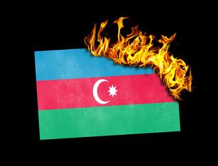 Flag burning - Azerbaijan