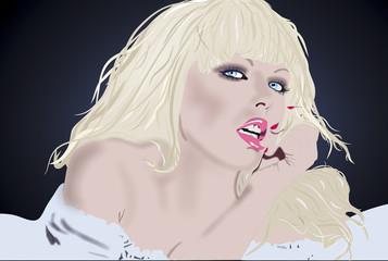 Портрет блондика