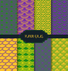 Mardi Gras pattern backgrounds