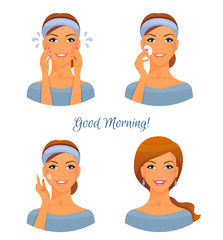 Morning treatments for skin