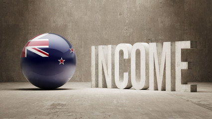 New Zealand. Income  Concept.