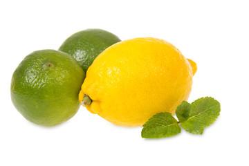 Fresh lemon and limes