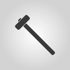 The sledgehammer icon. Sledgehammer symbol.