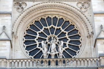 The West Rose Window of Notre Dame de Paris