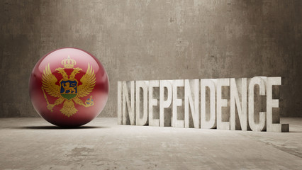 Montenegro. Independence Concept.