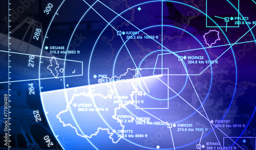 Leinwandbild Motiv Radar with targets