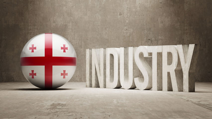 Georgia Industry Concept.
