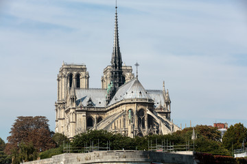 The cathedral of Notre Dame in Paris . France