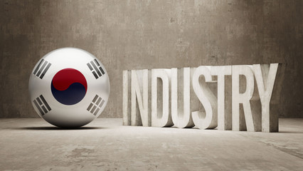 South Korea. Industry Concept.
