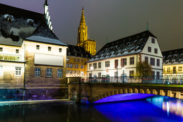 Strasbourg at night, France