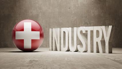 Switzerland. Industry Concept.