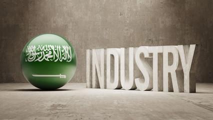 Saudi Arabia. Industry Concept.