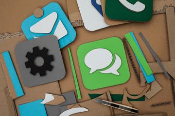 Apps aus Pappe