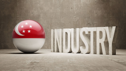 Singapore Industry Concept.