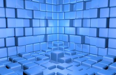 Abstract cubes background