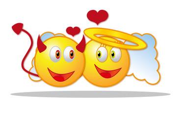 Smileys verliebt Teufel Engel Valentin