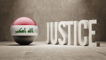Iraq. Justice Concept.