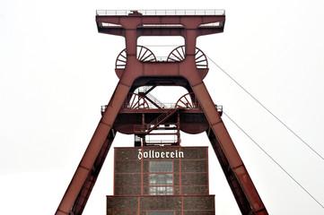 Weltkulturerbe. Zollverein - Förderturm, isoliert