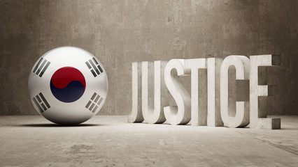 South Korea. Justice Concept.