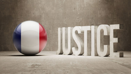 France. Justice Concept.