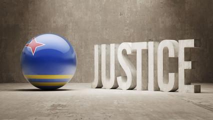 Aruba. Justice Concept.