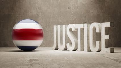 Costa Rica. Justice Concept.