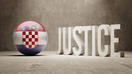 Croatia. Justice Concept.