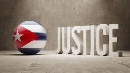 Cuba. Justice Concept.