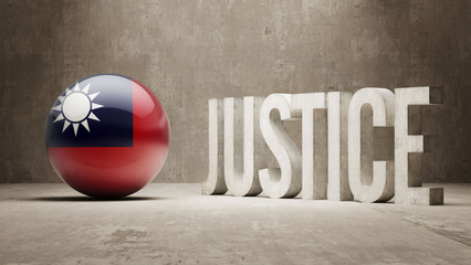 Taiwan. Justice Concept.