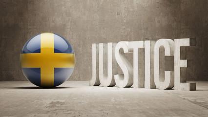Sweden. Justice Concept.