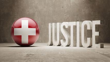 Switzerland. Justice Concept.