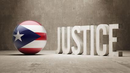 Puerto Rico. Justice Concept.
