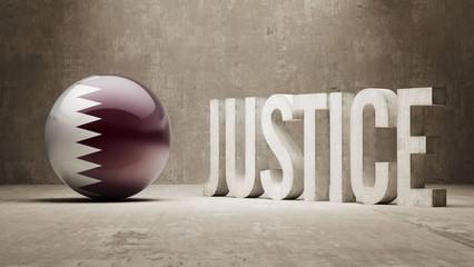 Qatar. Justice Concept.