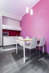 Pink kitchenette