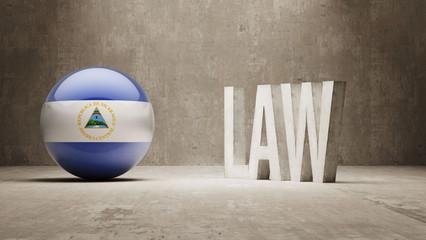 Nicaragua. Law Concept.