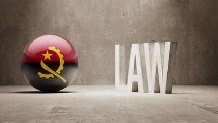 Angola. Law Concept.
