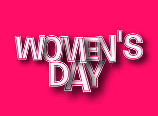 Womens's Day text made of 3d vector design element.