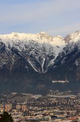 City at foot of Alps. Innsbruck, Austria