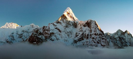 Evening view of Ama Dablam - Way to Everest Base Camp