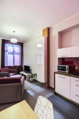 Small studio apartment interior