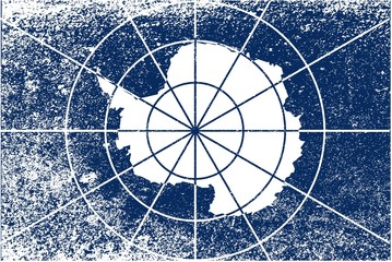 Flag of Antarctica Grunge