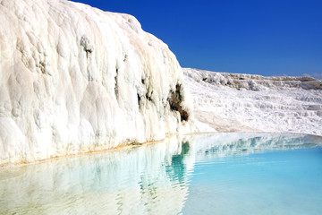 Travertine terraces in Pamukkale Turkey