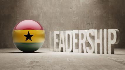 Ghana. Leadership Concept.