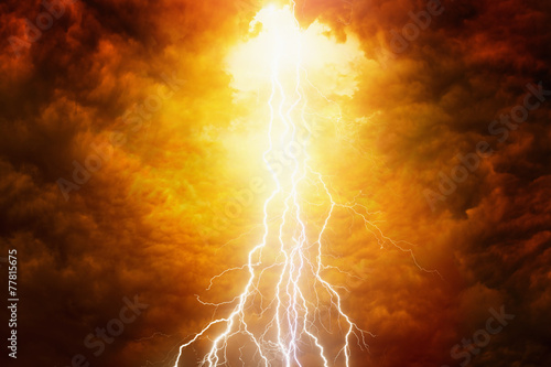 Fotobehang Onweer Judgement day