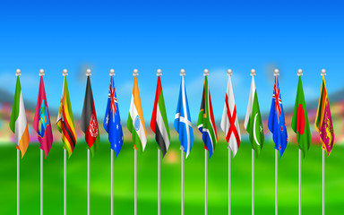Flags of participating countries of cricket 2015