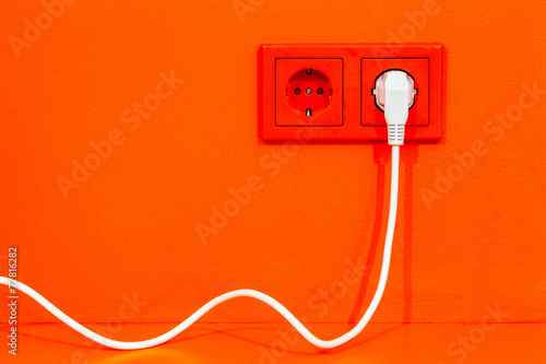 Leinwandbild Motiv Electric plug